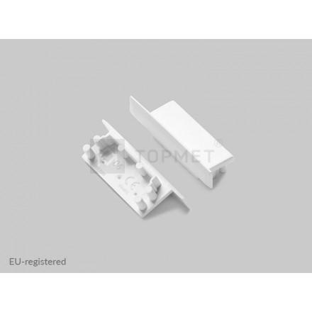 LED juostos profilio VARIO30-06 užbaigimo elementas, baltas.