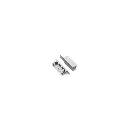 LED juostos profilio VARIO30-06 užbaigimo elementas, sidabrinis.