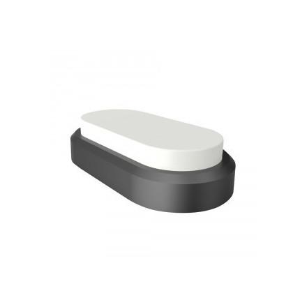 8W ovalus šviestuvas, juodas V-TAC, 3000K (šiltai balta)