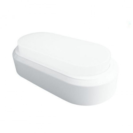 8W ovalus šviestuvas, baltas V-TAC, 3000K (šilta spalva)