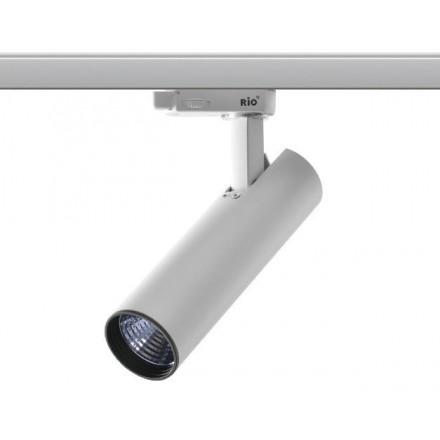 25W LED Šviestuvas ant bėgelio RIO, baltu korpusu,šviesos kampas: 60°, 3000K (šiltai balta).