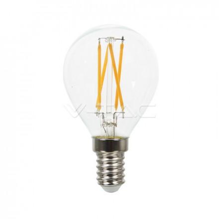 4W Filamentinė LED  lemputė V-TAC E14, P45 (Šviesos spalva: 2700K) A++