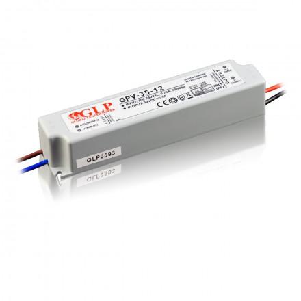 36W LED Maitinimo šaltinis GLP 24V IP67