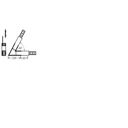 LED juostos profilio VARIO30-02 kampinis sujungimas 60 laipsnių. Juodas