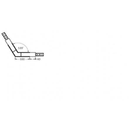 LED juostos profilio VARIO30-02 kampinis sujungima 120 laipsnių, juodas.
