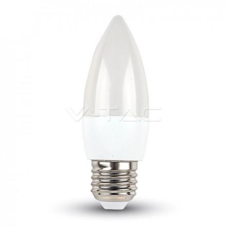 5,5W LED lemputė žvakės formos V-TAC  E27 Termoplastinė 6400K (šalta)