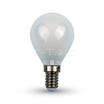 4W LED lemputė V-TAC, E14, P45, matiniu paviršiumi, filamentinė, A++, 2700K (šiltai balta)