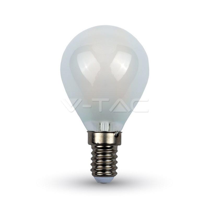 4W LED lemputė V-TAC, E14, P45, matiniu paviršiumi, filamentinė, A++, 6400K (šaltai balta)