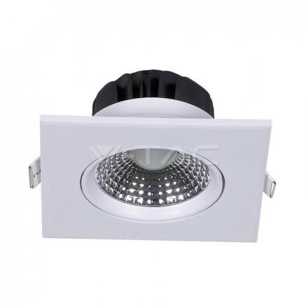 5W LED kvadratinis šviestuvas , baltas,  4000K (natūraliai balta)