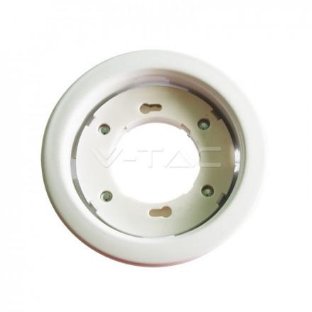GX53 įmontuojamas lemputės rėmelis, V-TAC, apvalus, baltas.