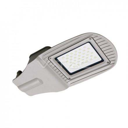 30W gatvės šviestuvas V-TAC, pilkas, 4000K (natūraliai balta)