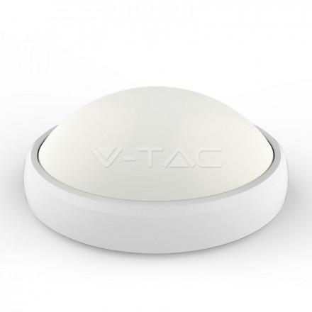 12W LED paviršinis šviestuvas V-TAC, ovalo formos, baltas, IP65, 3000K (šiltai balta)