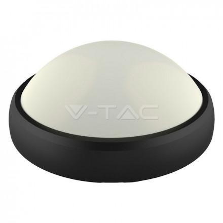 12W LED paviršinis šviestuvas V-TAC, ovalo formos, juodas, IP65, 3000K (šiltai balta)