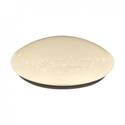 18W LED paviršinis šviestuvas V-TAC, ovalo formos, žvaigždėtas korpusas, 3000K (šiltai balta)