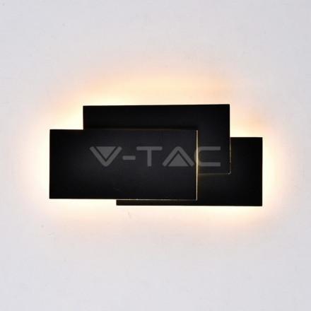 12W LED sieninis šviestuvas V-TAC, juodas, 3000K (šiltai balta)