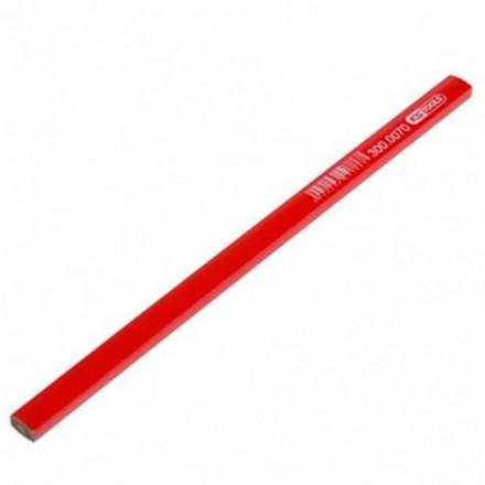 Staliaus pieštukas 25cm HB raudonas, KS tools