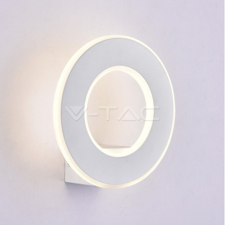 9W LED sieninis šviestuvas V-TAC, Ø210 , baltas, 3000K (šiltai balta)