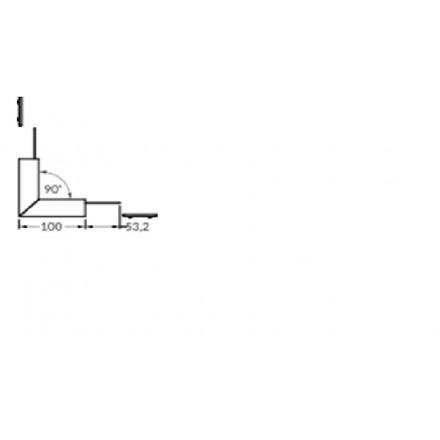 LED juostos profilio VARIO30-02 kampinis sujungimas 90 laipsnių (lenktasį viršų), anoduotas juodas