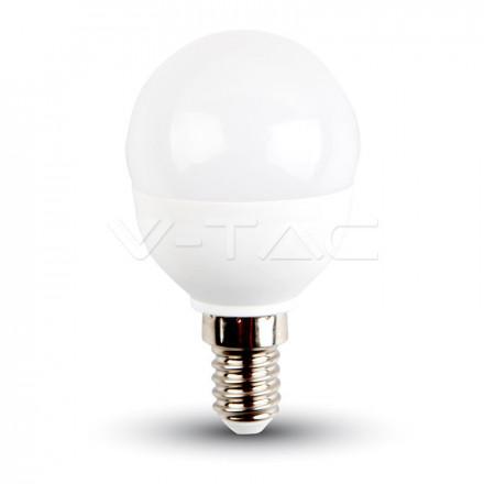 5,5W LED lemputė V-TAC, E14, P45, 4000K(natūraliai balta)