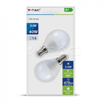 5,5Wx2vnt/pakuotėje LED...