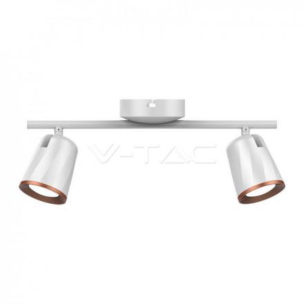 2 x 6W  LED sieninis šviestuvas V-TAC, baltas, 3000K (šiltai balta)