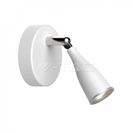 4,5W LED sieninis šviestuvas V-TAC, baltas, 3000K (šiltai balta)