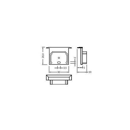 LED juostos profilio dangtelio E7 KLIK, užbaigimai