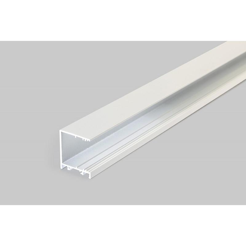 1m LED juostos profilio VARIO30-03, anoduotas, baltas.
