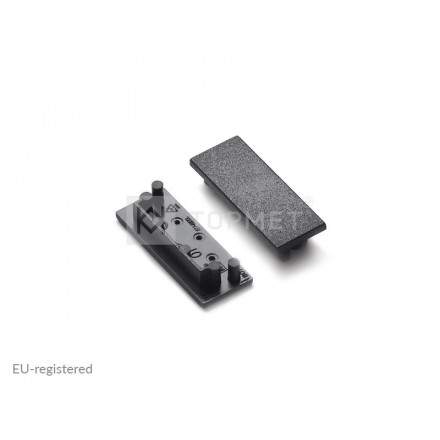 LED juostos profilio VARIO30-01 užbaigimo elementas, juodas.