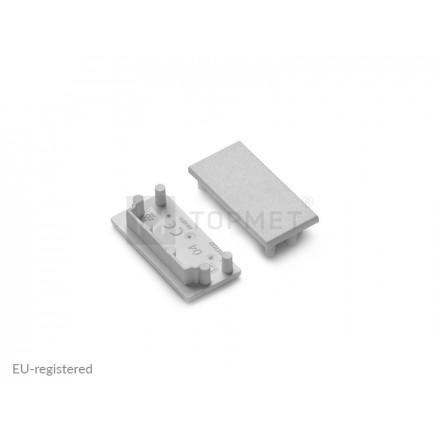 LED juostos profilio VARIO30-04 užbaigimo elementas, pilkas.