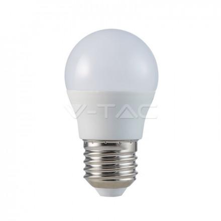 5.5W LED lemputė, G45, V-TAC,  E27  6400K (šaltai balta)