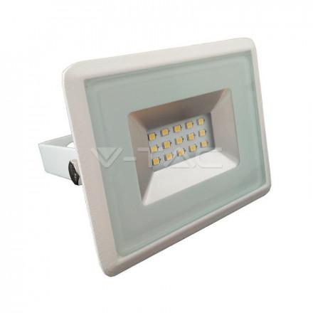 10W LED prožektorius V-TAC, SMD, E-serija, 4000K (natūraliai balta), baltu korpusu