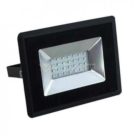20W LED prožektorius V-TAC, SMD, E-serija, 6500K (šaltai balta), juodu korpusu