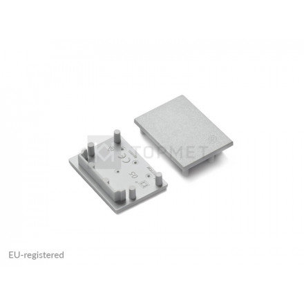 LED juostos priglaistomo profilio VARIO30-05 užbaigimo elementas pilkas