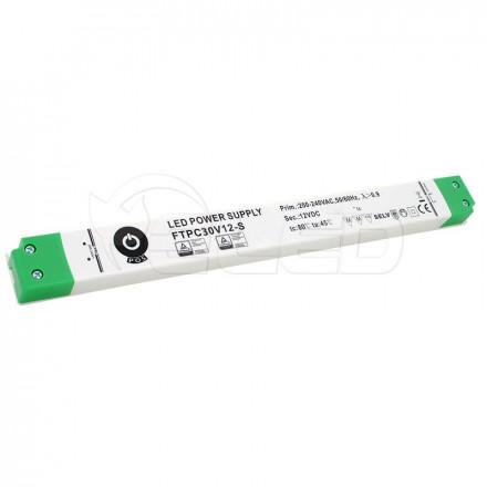 30W LED Maitinimo šaltinis POS SLIM 12V IP20