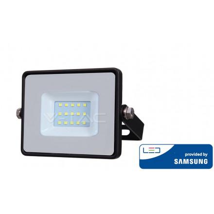 10W LED prožektorius V-TAC, 6400K (šaltai balta), juodu korpusu, SAMSUNG LED chip