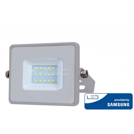 10W LED prožektorius V-TAC, 3000K (šiltai balta), pilku korpusu, SAMSUNG LED chip