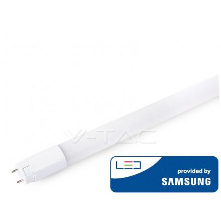 18W LED lempa T8 V-TAC 120cm, G13, nano plastikas, 3000K(šiltai balta), SAMSUNG LED chip