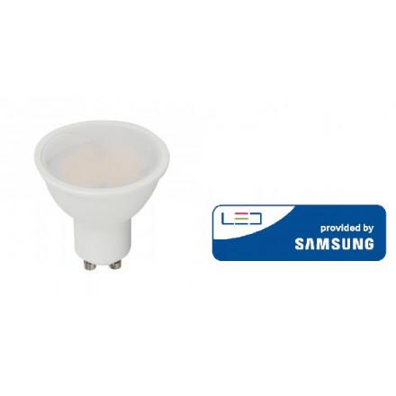 5W LED lemputė V-TAC, GU10, šviesos kampas 110°, 3000K(šiltai balta), SAMSUNG LED chip