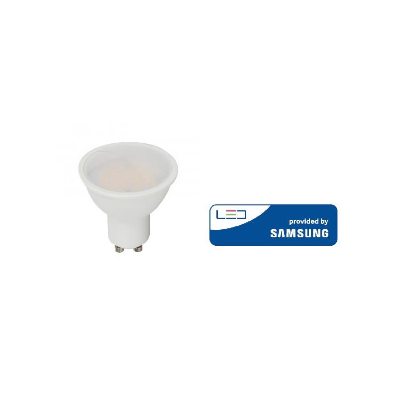 5W LED lemputė V-TAC, GU10, šviesos kampas 110°, 6400K(šaltai balta), SAMSUNG LED chip