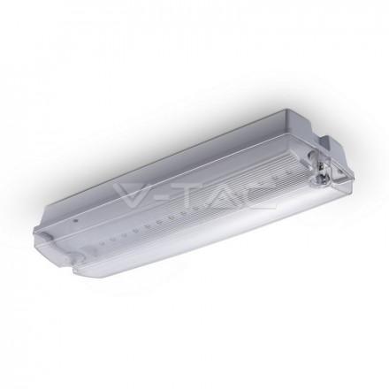3W 16SMD LED'ų evakuacinis šviestuvas V-TAC, įkrovos laikas 12h, 6000K (šaltai balta)