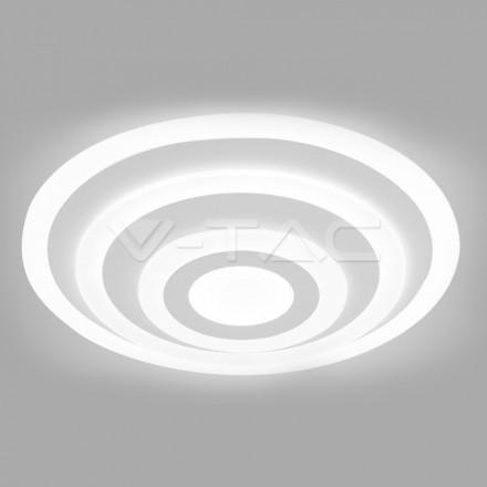 85W LED paviršinis šviestuvas V-TAC, 3 žiedų, dimeriuojamas, 4000K (natūraliai balta)