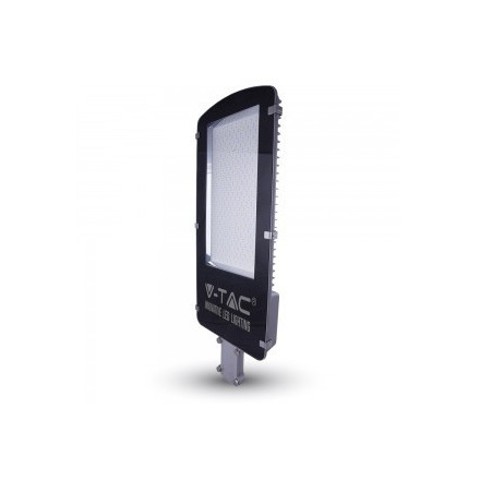 100W gatvės šviestuvas V-TAC, pilkas, 120LM/W, 3000K (šiltai balta)