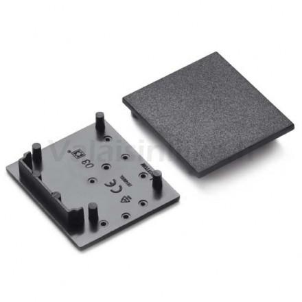 LED juostos profilio VARIO30-03 užbaigimo elementas, juodas.