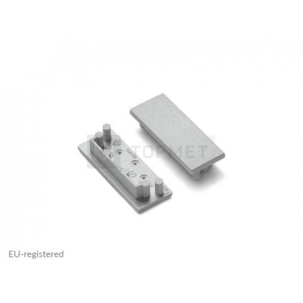 LED juostos profilio VARIO30-01 užbaigimo elementas, sidabrinis.