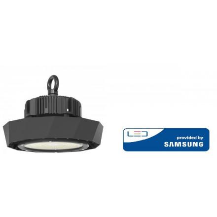 100W LED sandėlio šviestuvas V-TAC, su SAMSUNG maitinimu šaltiniu ir SAMSUNG LED chip, juodas, 4000K (natūraliai balta)