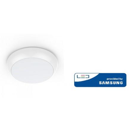 15W LED baltas paviršinis šviestuvas V-TAC, apvalus, IP65, 4000K (natūraliai balta), SAMSUNG LED chip