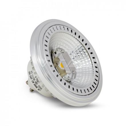 12W LED lemputė AR111, GU10, 40° kampas, (3000K) šiltai balta, dimeriuojamas.