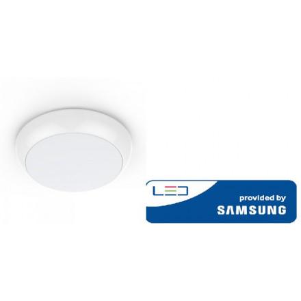 17W šviestuvas V-TAC, baltas, apvalus, su atsargine baterija ir judesio davikliu, 4000K(natūraliai balta), SAMSUNG LED chip