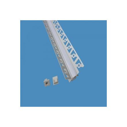 LED juostos profilis V-TAC, aliuminis, 2m, baltos spalvos.
